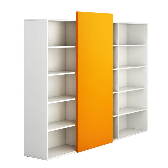 hoher offener schrank lang block white orange b2b partner. Black Bedroom Furniture Sets. Home Design Ideas