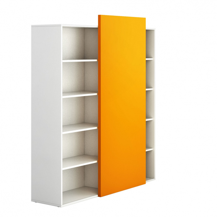 hoher offener schrank block white orange b2b partner. Black Bedroom Furniture Sets. Home Design Ideas