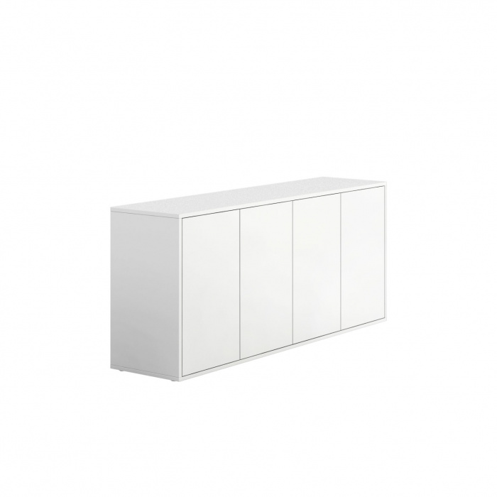 niedriger schrank mit t ren block white b2b partner. Black Bedroom Furniture Sets. Home Design Ideas