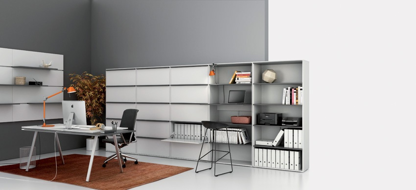 hoher offener schrank boards gray b2b partner. Black Bedroom Furniture Sets. Home Design Ideas